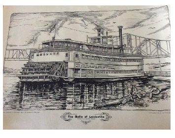 The Belle of Louisville - Lithograph 1963