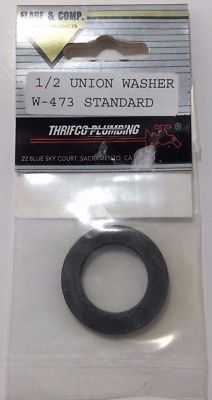 Thrifco Plumbing Union Washer - Flat Rubber Washer, W-473