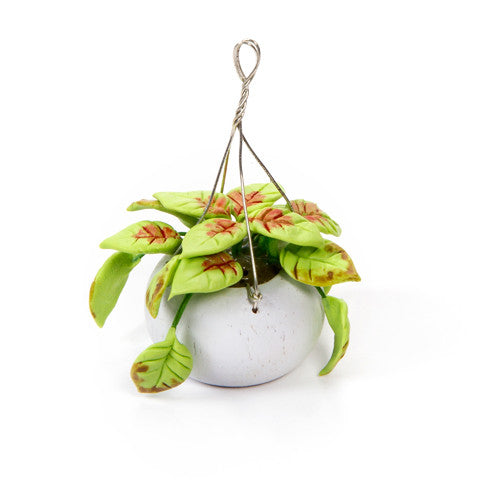 Timeless Minis - Handmade Hanging Greenery Basket - 1.5 x 2 inches
