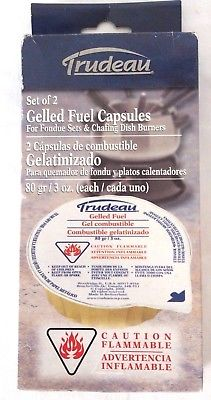 Trudeau Gelled Fuel Capsules For Fondue Sets, Set of 2