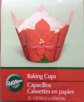 Wilton Poinsettia Baking Cups 15 Count