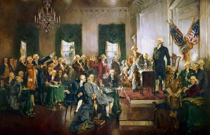 """Scene At The Signing Of The U.S. Constitution"" Poster 8 x 10 By Howard Chandler Christy"