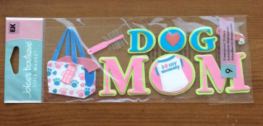 Scrapbook Dimensional Stickers Puppy Love Stickers Dog Mom Stickers