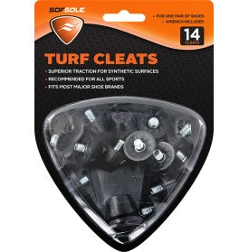 "Sof Sole Turf Cleats (Multipurpose) - 6/16"" Deep - 14 Cleats Pack"