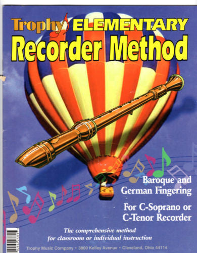 Trophy Elementary Recorder Method, Paperback 1987