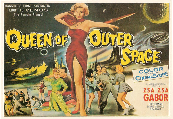 Queen Of Outer Space Movie Poster Postcard