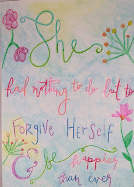 "Inspirational Quote ""She Had Nothing"", Hand Painted by Casai Prints"