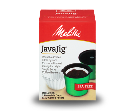 Melitta JavaJig Starter Pack, Reusable Coffee Filter System