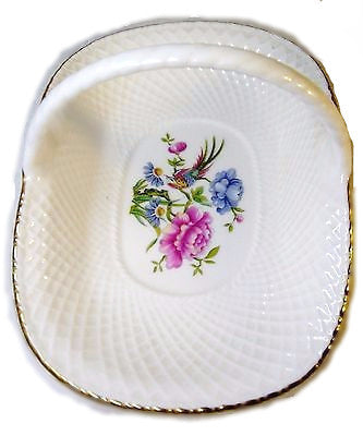Oriental Bird Lattice Basket by Spode