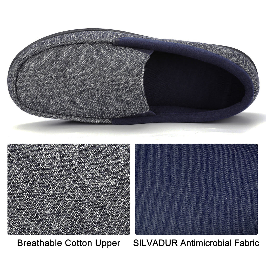 Men's Moc Slipper with SILVADUR Antimicrobial