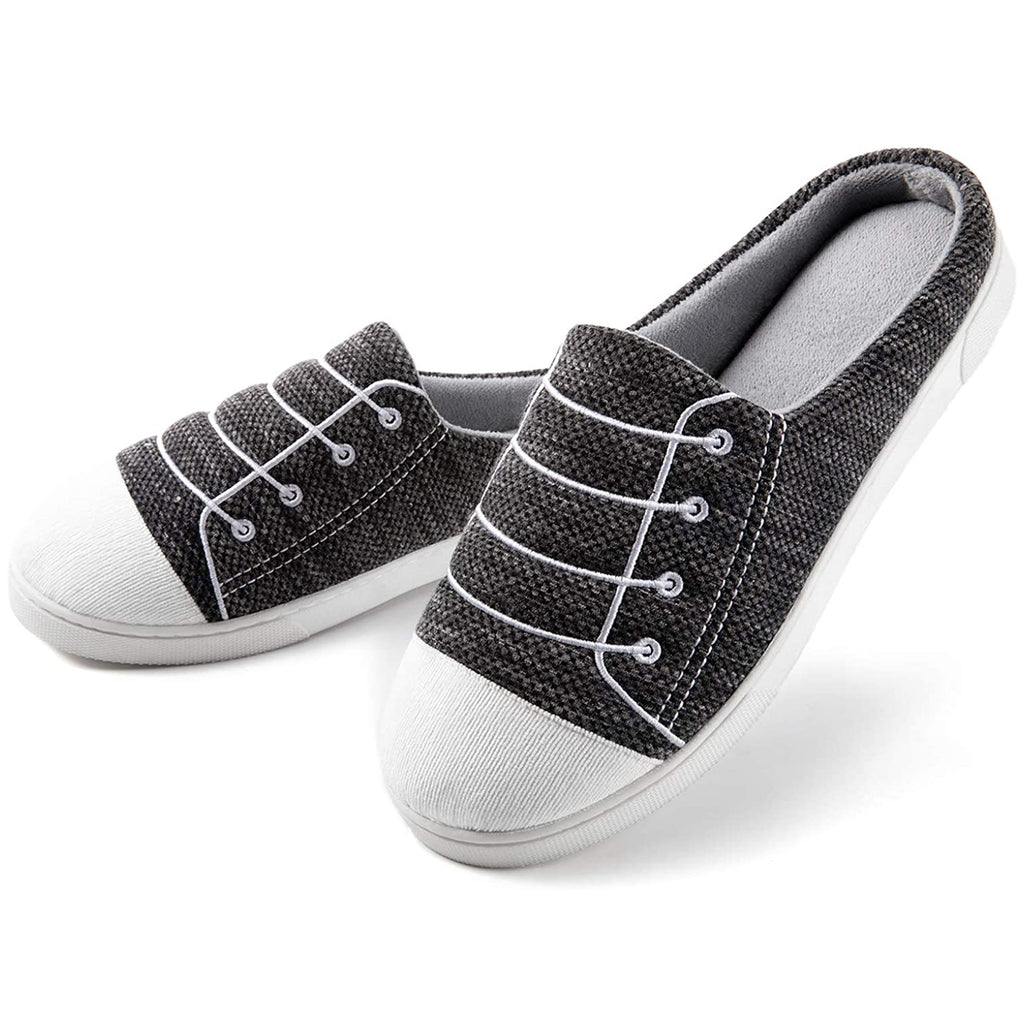 Men¡¯s Memory Foam Slippers, Slip-on House Shoes with Coral Velvet Lining