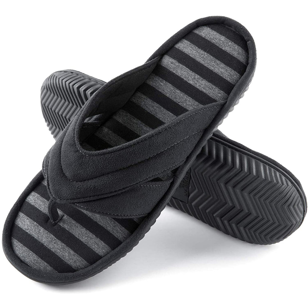 Men's Memory Foam Flip Flop Slippers