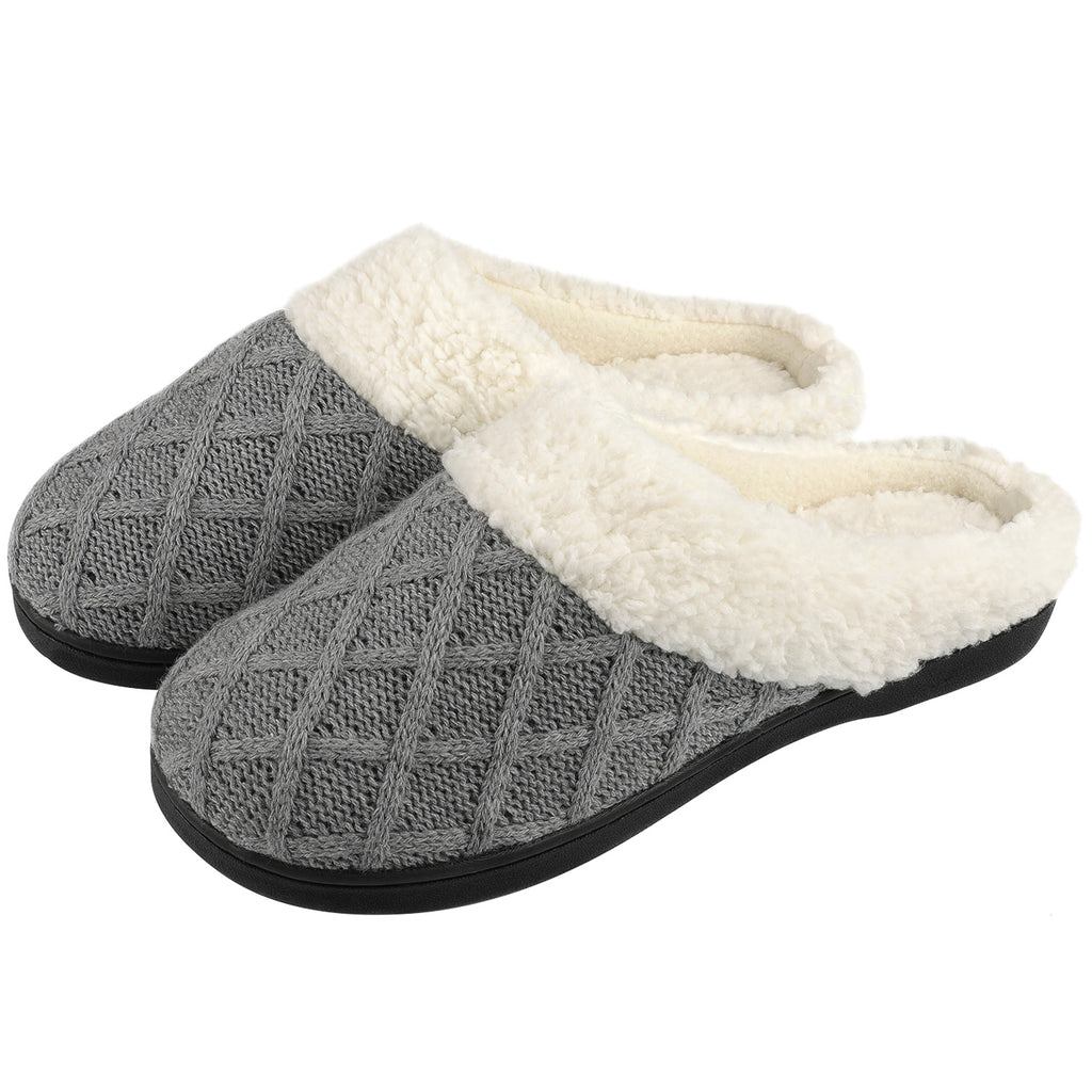 Women's Lattice Stitch Faux Shearling Slip-On