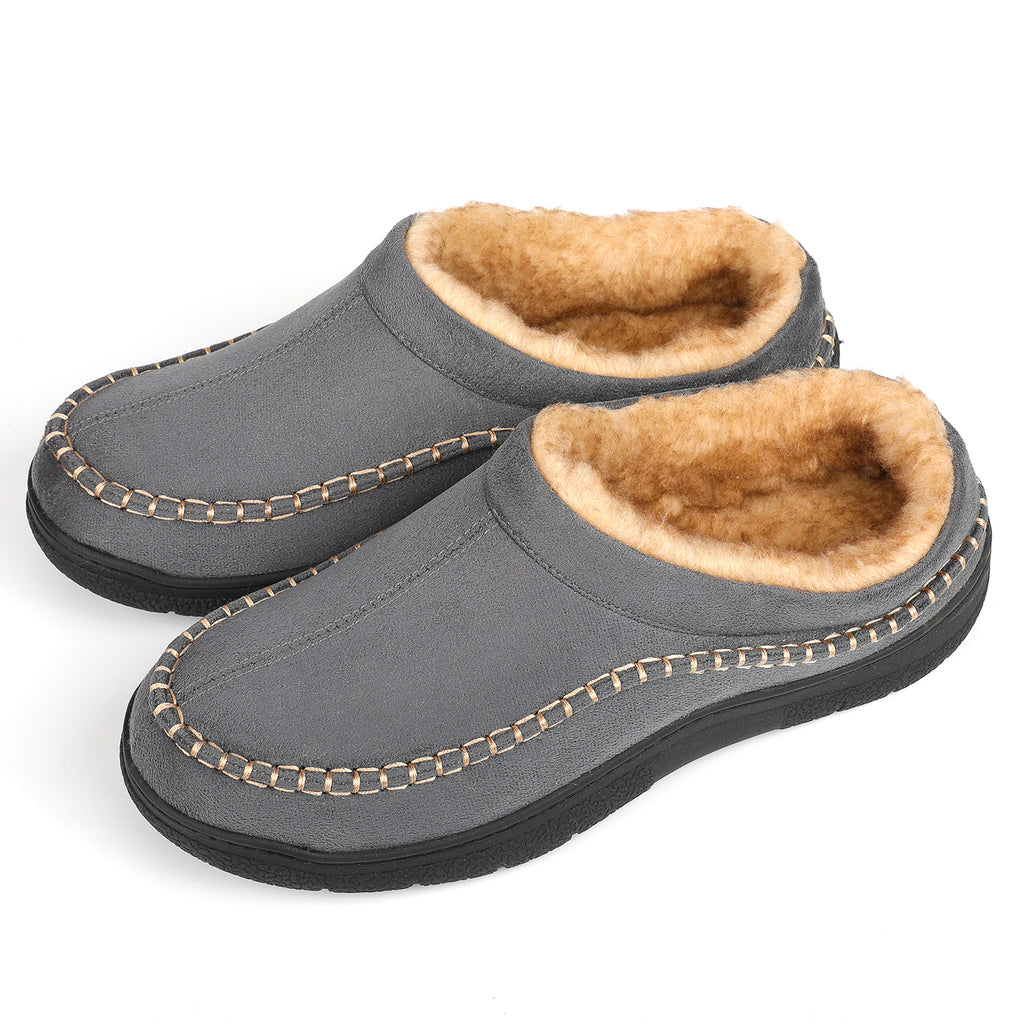 Men's Faux Wool Lined Full Ridge Slip-On