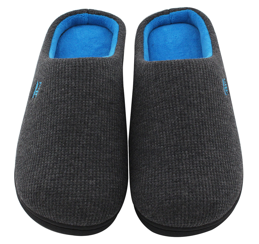 Men's Memory Foam House Slippers Warm Indoor Slip-on Clogs Shoes