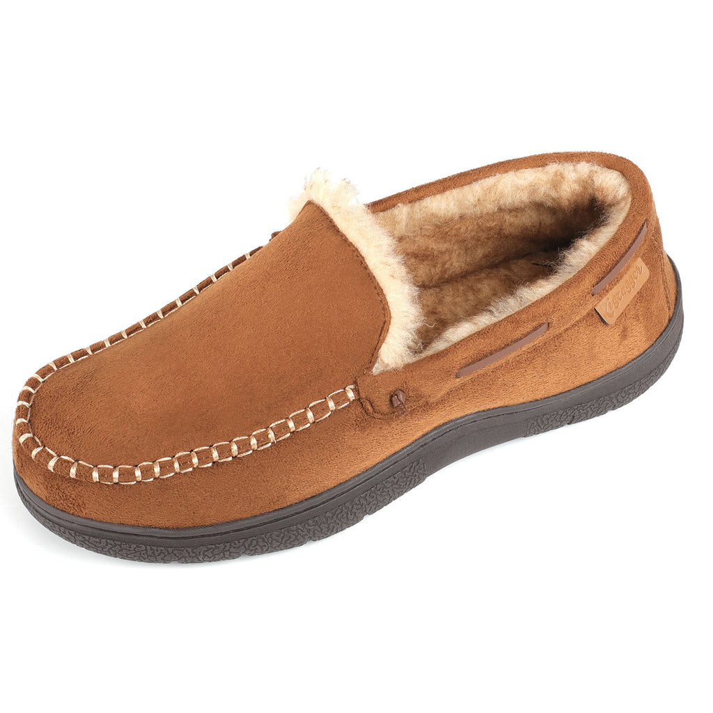 Men's Faux Wool Lined Half-Ridge Moccasin