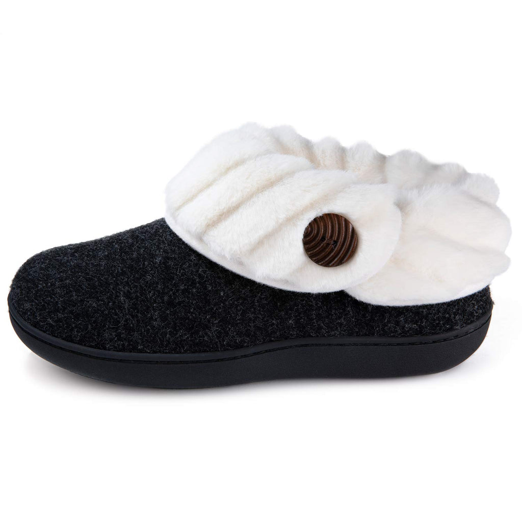 Wishcotton Women's Cute Comfy Fuzzy Felt Memory Foam Slippers