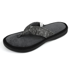 Women's Jersey Knit Adjustable Thong Slipper