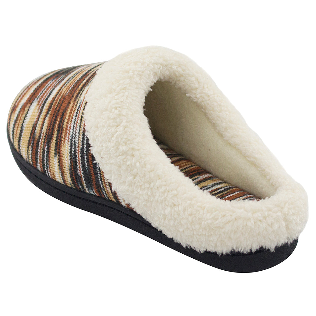 RockDove Women's Multi-Color Memory Foam Wool Slipper