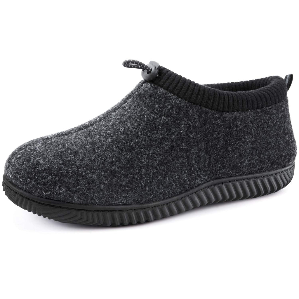 ULTRAIDEAS Men's Cozy Memory Foam Woolen Slippers with Elasticated Collar