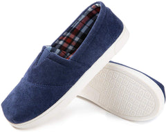 RockDove Men's Light Corduoroy Memory Foam Loafer  Slipper