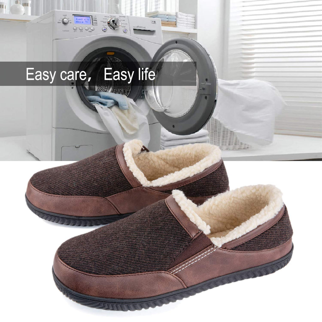 ULTRAIDEAS Men's Memory Foam Slippers with Cozy Fleece Lining, Closed Back House Slippers with Anti-Skid Rubber Sole