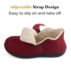 ZIZOR Women's Cozy slippers with Adjustable  Closed Back