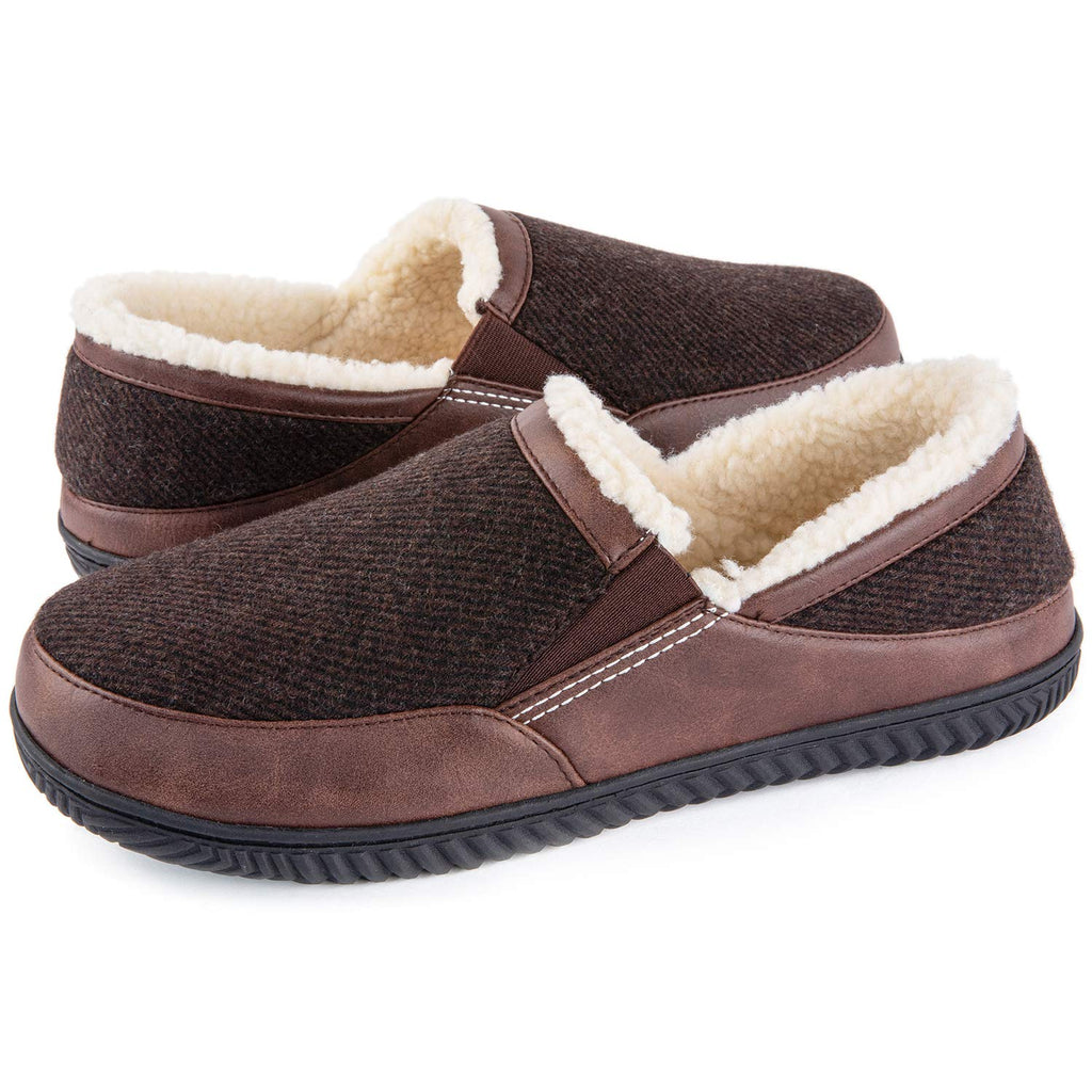ULTRAIDEAS Men's Memory Foam Slippers with Cozy Fleece Lining