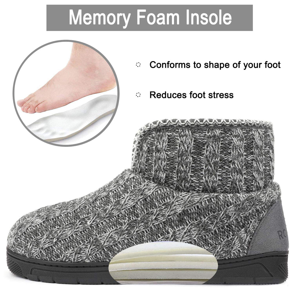 RockDove Men's Sweater Knit Bootie Slipper with Memory Foam