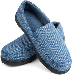 Men's Cozy Memory Foam Tartan Slippers