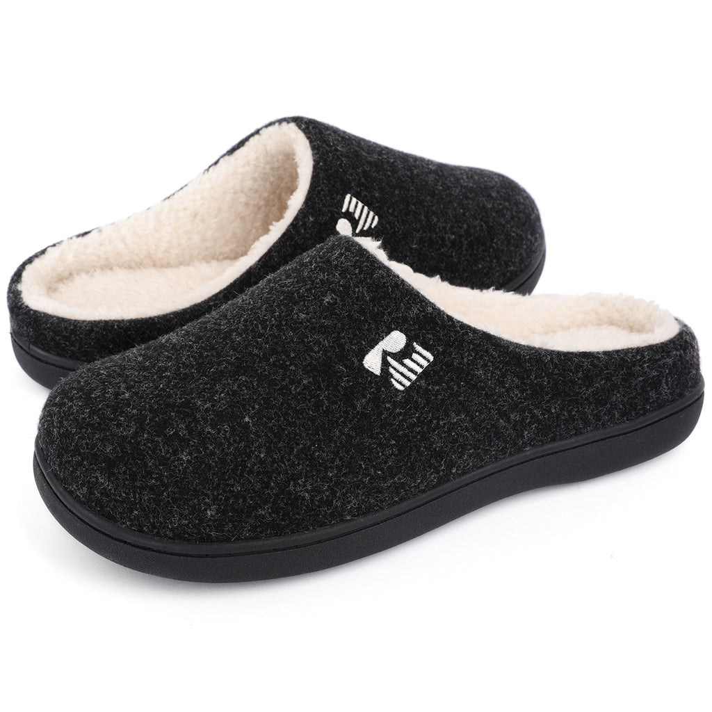 RockDove Men's Sherpa Lined Memory Foam Clog Slipper