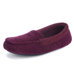 Women's Chenille Fabric Memory Foam Moccasin Slipper