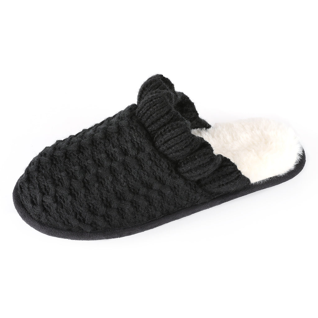 RockDove Women's Lace Knit Cuffed Slip-On with Memory Foam