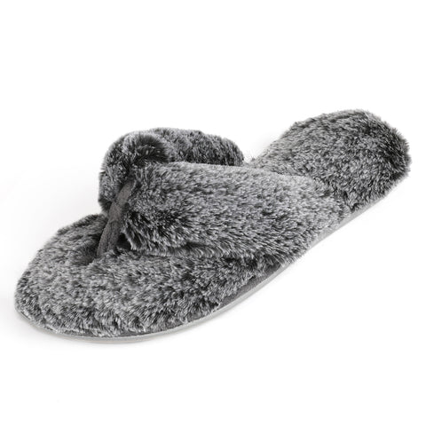 RockDove Women's Faux Fur Spa Slide with Memory Foam
