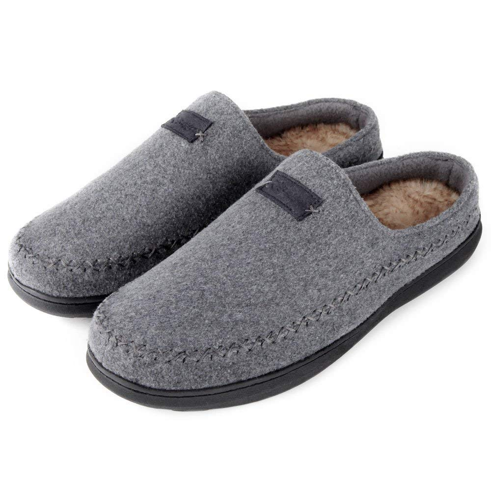 Zigzagger Men's Warm Indoor Outdoor Clog House Slippers