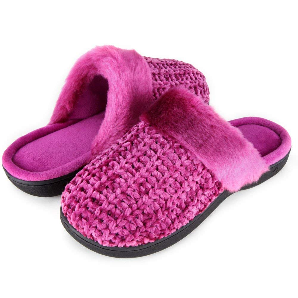 Zigzagger Women's Soft Fleece Slippers Slip-on Clog House Shoes