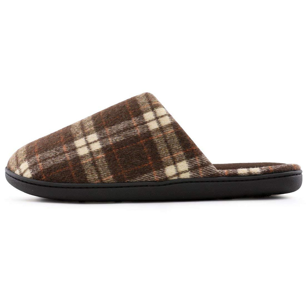 RockDove Men's Plaid House Slippers