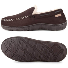 Zigzagger Men's Ridge Line Moccasin Comfort Slippers