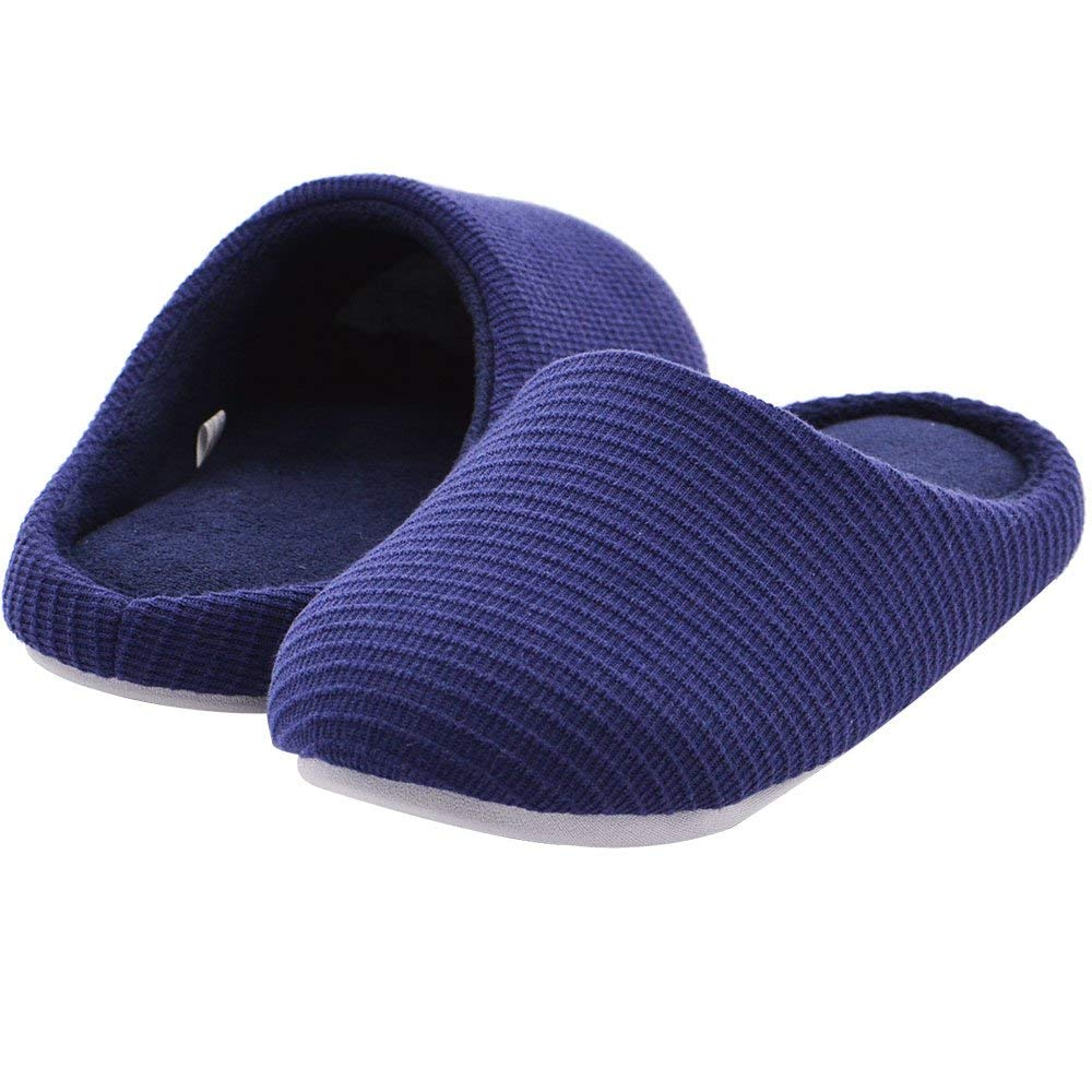 Wishcotton Men's  Memory Foam Slippers House Shoes with Non-slip Sole