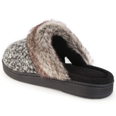 ULTRAIDEAS Women's Cute Wool Blend Fuzzy Coral Fleece Memory Foam Slip-on Flat Slippers