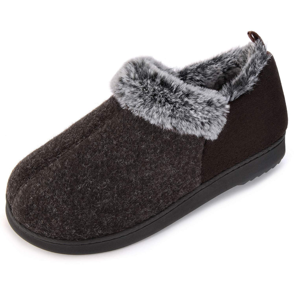 ULTRAIDEAS Women's Girl's Wool-Like Blend Micro Suede Fleece Moccasin Slippers