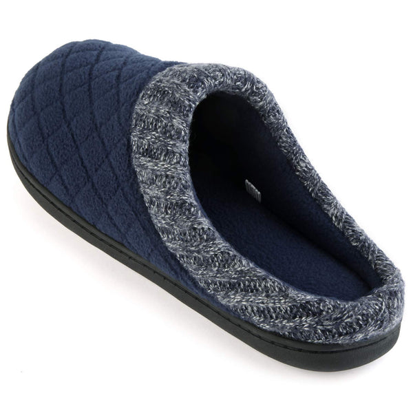 Rockdove men 39 s comfort memory foam slippers ribbed hand - Most comfortable bedroom slippers ...