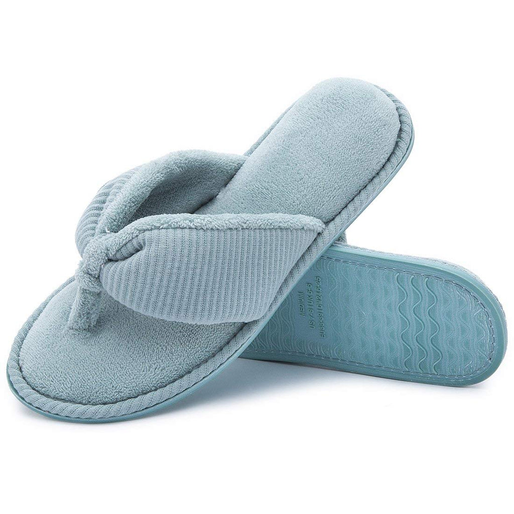 e747f85ac20 ... RockDove Ladies  Memory Foam Flip Flop Slippers - House Spa Indoor  Thong Sandals ...