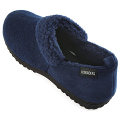 ULTRAIDEAS Men's Wool-Like Blend Micro Suede Moccasin Slippers