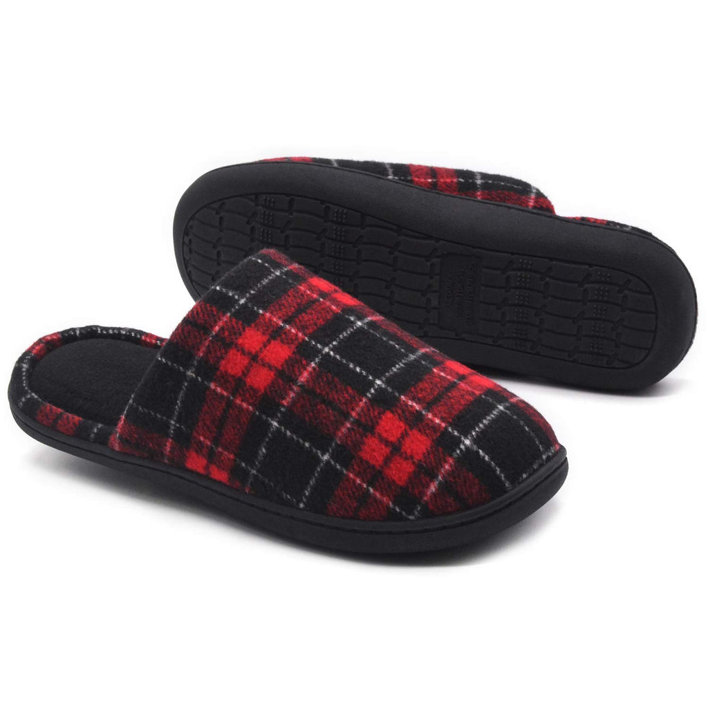 RockDove Women's Plaid Scuff with Memory Foam