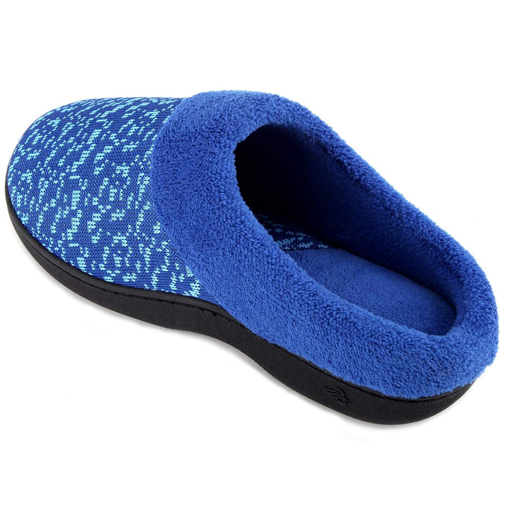 Wishcotton Women's Knit Memory Foam House Slippers Print Slip-On