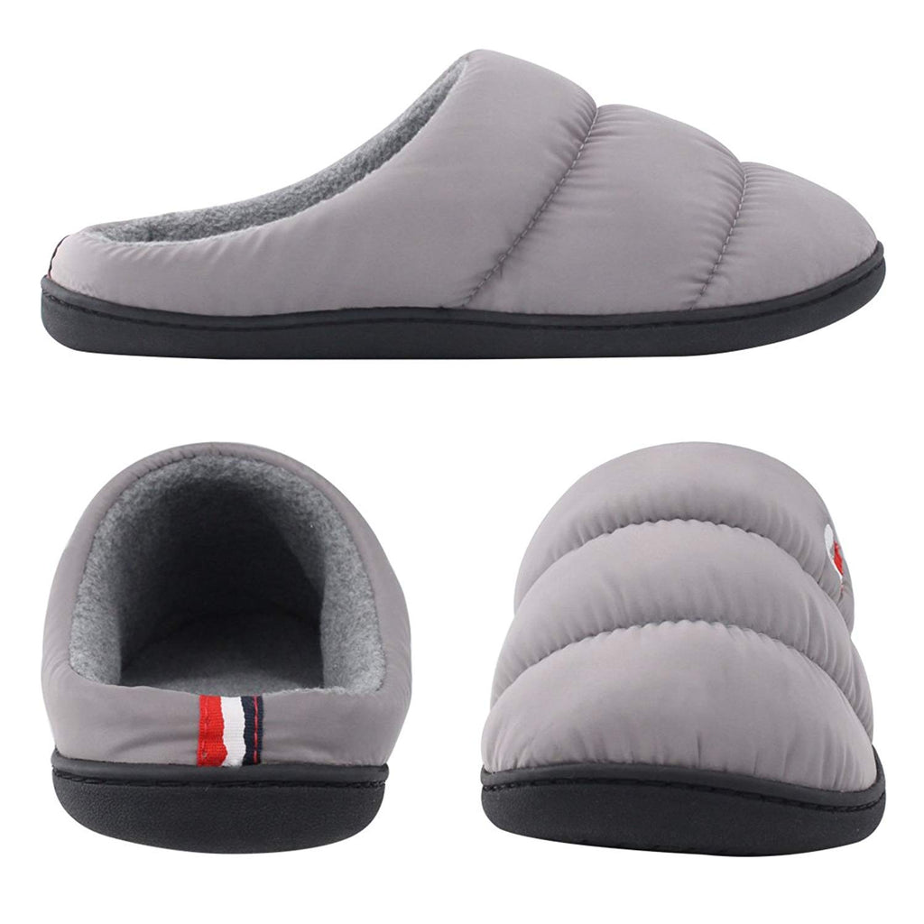 RockDove Men's Down Memory Foam Comfort Slippers House Shoes