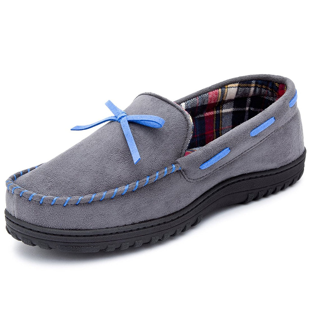 a796b25193655 RockDove Men's Memory Foam Moosehide Moccasin Slippers – RockDove ...