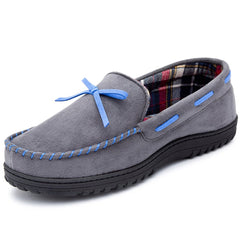 RockDove Men's Memory Foam Moosehide Moccasin Slippers