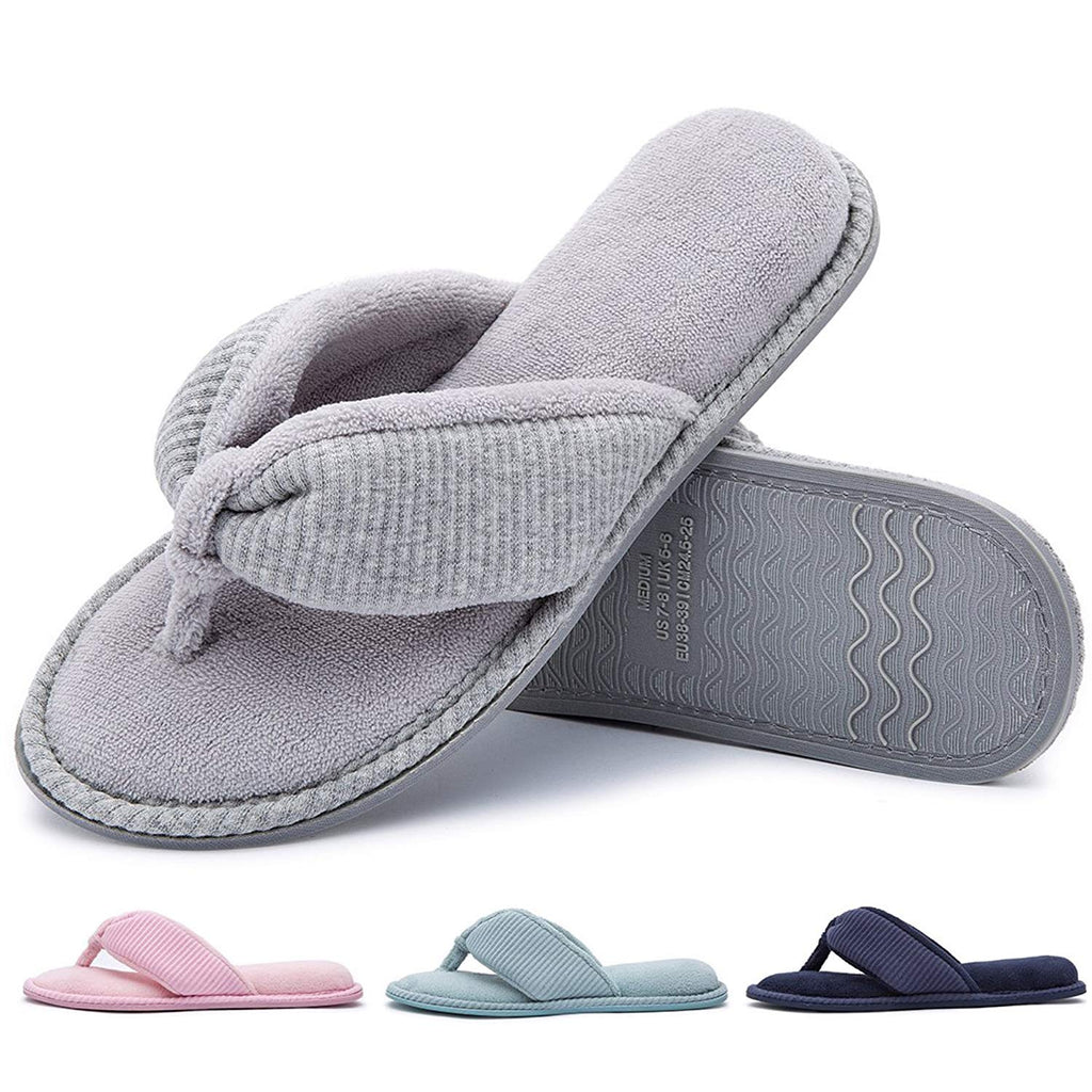 d9160ef65eaa RockDove Ladies  Memory Foam Flip Flop Slippers - House Spa Indoor Thong  Sandals